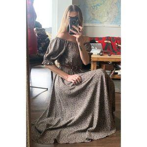 Handmade Vintage Inspired Bell Sleeve Midi dress